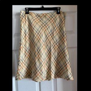 Vineyard Vines Plaid Silk Skirt - Size 8
